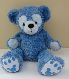 Walt Disney World Pre Duffy 17 Inch BLUE Plush Disney Bear Hidden Mickey RARE #WaltDisneyWorld