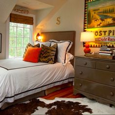 Cabin decor minus the cowhide
