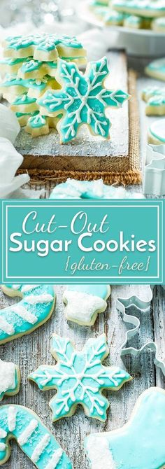These gluten-free cut-out sugar cookies are now a go-to Christmas cookie recipe in our house! A few simple tricks make the sugar cookie dough super easy to work with and the gluten-free sugar cookies don't spread while baking! Gluten Free Christmas Cookies, Gluten Free Sugar Cookies, Xmas Cookies, Sugar Cookies Recipe, Sugar Free Christmas Baking, Baking Cookies, Sugar Cookie House Recipe, Christmas Cut Out Cookies, Cake Cookies