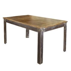 A perfect addition to your eat-in kitchen or dining room, this wood and iron table showcases a distressed finish for rustic-chic appeal.       ...