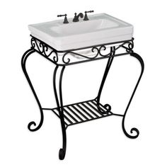 Wrought iron sink stand