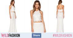Vei fii o zână în alb. Wild Style, Two Piece Skirt Set, Spandex, Floral, Skirts, Dresses, Fashion, Embroidery, Vestidos