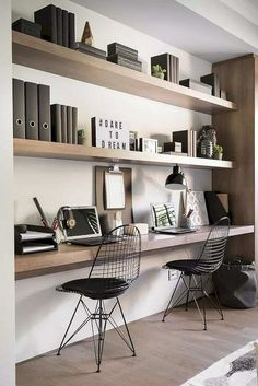 Want to have a comfortable home office to improve your productivity? Yaa, home office is a very important room. Here are some inspirations Home office design ideas from us. Hope you are inspired and enjoy . House Design, House, Interior, Home, Study Nook, House Interior, Home Office Design, Interior Design, Office Design