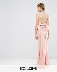 cfb60af6fae Jarlo Wedding Overlay Maxi Dress with Fishtail and Oversized Bow Back at  asos.com