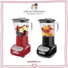 Liquidificadores em duas cores da KitcheAind. Além de práticos são lindos e cheios de charme!
