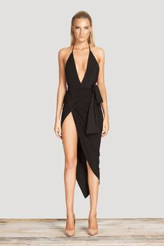 Women V-neck backless Wrap Slim Stretch Dress #dress#sexy#womendresses#women