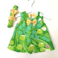 Grön söt klänning