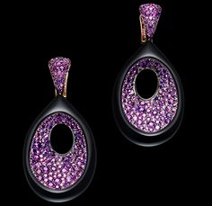 Dazzle yourself with de Grisogono's Amethysts earrings in pink gold with black nano-ceramic coating! View more of our favorite high jewelry pieces here: http://balharbourshops.com/fashion/limited-edition