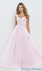 Buy Floor Length Blush Gown  at SimplyDresses