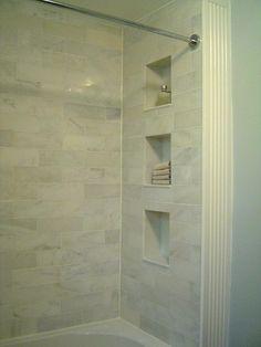 Bath room tiles grey shower shelves 44 ideas for 2019 Bathroom Renos, Bathroom Renovations, Master Bathroom, Bathroom Ideas, Master Shower, Bathroom Stuff, Hall Bathroom, Family Bathroom, Bathroom Inspo