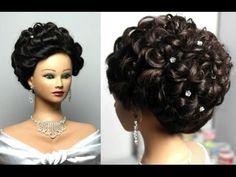 ▶ Вечерняя прическа на длинные волосы. Peinados para cabello largo, peinados de noche - YouTube