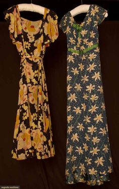 Two Elizabeth Hawes Printed Silk Dresses, 1933, Augusta Auctions, March 30, 2011 - St. Pauls, Lot 379