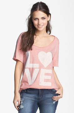 Project Social T 'Love' Graphic Tee (Juniors) available at #Nordstrom