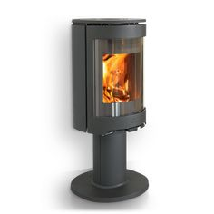 Jøtul F 483:The Jøtul F 480 series consists of two variants, both fully cast iron, convection stoves which can be positioned close to combustible walls. The tall burn chamber gives room for high, dancing flames and the rounded glass offers a great view to the fire from the side.