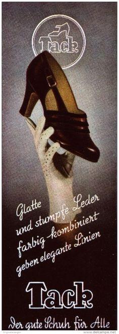 Original-Werbung/ Anzeige 1941 - VIERFARBANZEIGE : TACK SCHUHE -  ca. 110 x 280