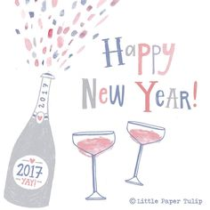 Happy New Year people! Hope you all have a good one. Typography Art, Lettering, Happy 2017, Prosecco, Wedding Stationery, Happy New Year, How To Draw Hands, Type, Illustration