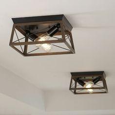 Modern Farmhouse Lighting, Farmhouse Light Fixtures, Farmhouse Flush Mount Light, Hallway Lighting, Rustic Lighting, Hallway Ceiling Lights, Kitchen Ceiling Lights, Office Lighting, Room Lights