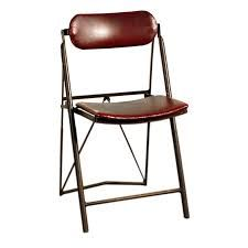 View this item and discover similar for sale at - French industrial folding leather Bienaise chair. French Industrial, Stool Chair, Side Chairs, Folding Chairs, The Originals, Benches, Stools, Tables, Leather