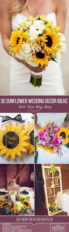 Sunflower weddings are one of the most popular weddings we see country brides loving. There is something so romantic and wonderful about a wedding designed around sunflowers. If you planning summer or autumn wedding, and your favorite wedding theme is country or rustic, this article for you! We collected the best sunflower wedding decor ideas especially for your big day!