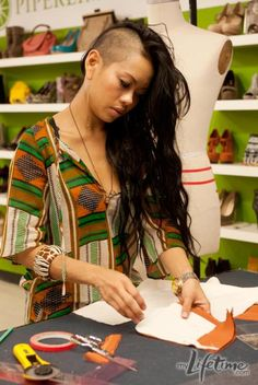 Anya Ayoung-Chee inspires me to take fashion risks. I'm kind of tempted to shave half my hair in the name of fashion.