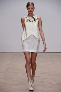 This shape wouldn't really work on anyone but a model, but it's beautiful.  Sass & Bide Spring 2013 RTW