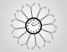 Ferforje Taşlı Duvar Saati  Ürün Bilgisi;  Ürün resimde olduğu gibidir Metal gövde Mineral cam Sessiz akar saniye Çap : 62 cm Gayet şık ve hoş duvar saati