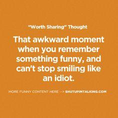 Catch myself doing this! -> shutupimtalking.com is legit