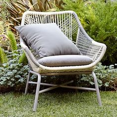 Huron Outdoor Small Lounge Chair + Cushion – Gray | west elm Outdoor Lounge Furniture, Outdoor Chairs, Modern Furniture, Antique Furniture, Industrial Furniture, Rustic Furniture, Balcony Furniture, Furniture Market, Recycled Furniture