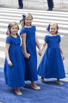 The Daughters of King Willem, and Queen Maxima, (L-R) Princess Alexia, Princess Catharina Amalia, and Princess Ariane