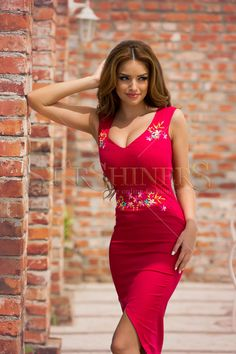 StarShinerS Embroidered Vibrant Burgundy Dress Burgundy Dress, Fall Collections, Clothing Items, My Outfit, Trendy Outfits, Vibrant, Bodycon Dress, Feminine, Formal Dresses