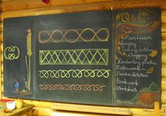 Form drawing~ it would be awesome to have space for this chalkboard at home.