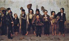 John George Brown (American genre painter, 1831-1913).  Dress Parade