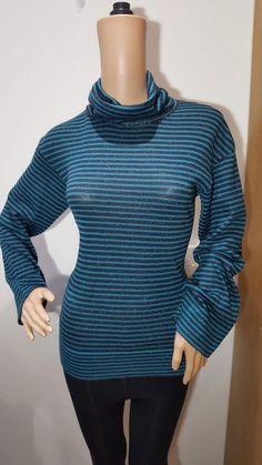 Blue Portofino Gabicci Classic Patterned Jersey Shirt Size Medium BNWT