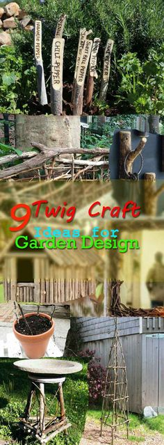 9 Twig Craft Ideas for Garden Design 9 Twig Craft Ideas for Garden DesignYou can make things out of them and use them to spruce up your garden. 9 Twig Craft Ideas for Garden Design 9 Twig Craft Ideas for Garden DesignYou can make things out of th Dream Garden, Garden Art, Garden Design, Garden Ideas, Garden Junk, Twig Furniture, Furniture Ideas, Twig Art, Twig Crafts