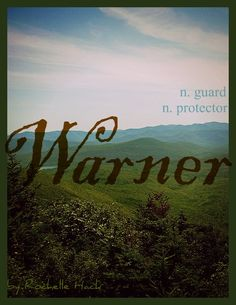 Baby Boy Name: Warner. Meaning: Guard; Protector. Origin: German; Old English. http://www.pinterest.com/vintagedaydream/baby-names/