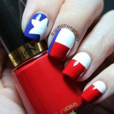 Instagram photo by armstrongnails - Ok...so don't hate me. I'm gonna keep you guessing on yesterday's post for a couple/few days. In the meantime I thought I'd share this version of the texas flag. I did a similar design last year after the explosion in West, Texas... except that the flag was only on my thumb. They've been repinned many mmay times, and I have a feeling these will follow in their footsteps. Texas sure is a proud state.  The polish I'm holding is @revlon 'revlon red'.