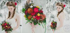 """Fairy (NOT """"fairytale"""" like Disney) Christmas bouquet idea."""