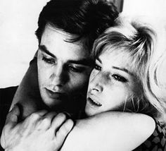 Monica Vitti and Alain Delon in - The Eclipse – 1961.