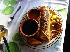 Comida garífuna en Puerto Livingston. Guatemala