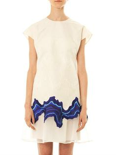 3.1 Phillip Lim Embroidered Geode flounce dress