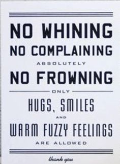 No frowning in the Laughter Yoga Room