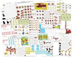 FREE Farm Printable Pack with 63 activities focused on skills such as shapes and colors, same vs. different, sorting / sequencing / categorizing,. Preschool At Home, Free Preschool, Preschool Themes, Preschool Farm, Preschool Education, Farm Activities, Sequencing Activities, Educational Activities, Farm Unit