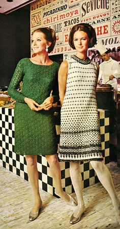 Vintage Knit and Crochet Dresses circa 1968