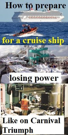 Here are some tips for being prepared in the very unlikely event that your cruise ship loses power.