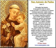 Cecill Torres uploaded this image to 'Estampitas Cecill'. See the album on Photobucket. Spiritual Prayers, Catholic Prayers, God Prayer, Prayer Quotes, Oracion A San Antonio, St Pio Of Pietrelcina, Prayer Images, Belief Quotes, Easter Prayers
