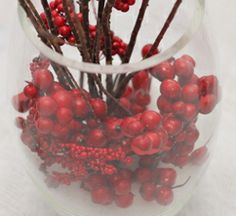 DIY Snow and Cranberries Holiday Centerpiece by The Country Chic Cottage