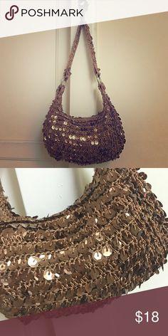 Sequin hobo shoulder bag Cute small sequin brown/ copper handbag. Hobo bohemian style little shoulder bag! Fashion Express Bags Shoulder Bags