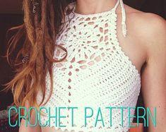 Crochet Top pattern PDF, Crochet pattern -ADORA- crochet top, crop top pattern, Wrap Crop top pattern, Bust size to Sizes S-M-L-XL Top Crop Tejido En Crochet, Débardeurs Au Crochet, Bikini Crochet, Crochet Cord, Crochet Halter Tops, Crochet Tank, Crochet Clothes, Diy Clothes, Crop Top Pattern