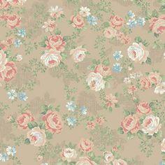 Bavlněná látka Růžičky béžové Rose Perfume 34b144213dc