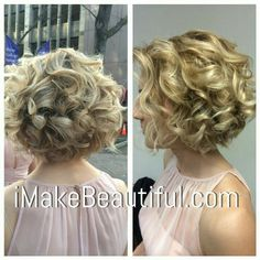 Bride Hairstyles Curled Short Hair Wedding Styles For